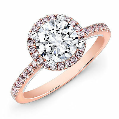 Humorous 1.25 Ct Diamond Engagement Rings Fine 14kt Rose Gold Round Cut Vvs1/d Size M Limpid In Sight Fine Rings Diamond