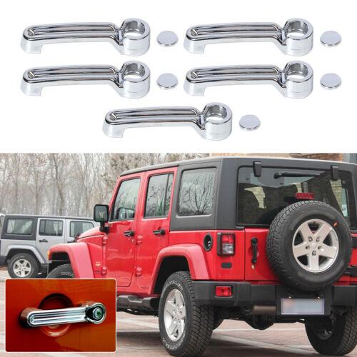 5pcs Couvercle Chrome poignée de porte pour JEEP Wrangler JK Liberty Dodge Nitro