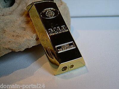 Edles Gas Feuerzeug Goldbarren Mit Geschenkbox @ Marken Qualität Zum Sonderpreis