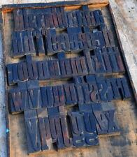 A Z Alphabet 531 Letterpress Wooden Printing Blocks Type Printer Vintage Rare