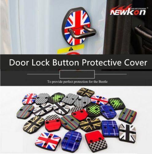 DOOR LOCK CATCH COVER BUCKLE CAP CASE PROTECTOR ANTI RUST For MINI COOPER