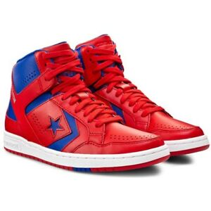 a8e707ad1ca2 Converse Men s Basketball Weapons Mid Red Blue White Leather ...