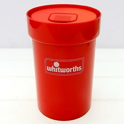 Vintage Retro Danish Erik Kold Whitworths Red Kitchen Storage Container