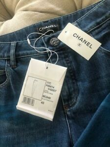 Authentic-Chanel-Painted-Denim-Pants-Jeans-NWT