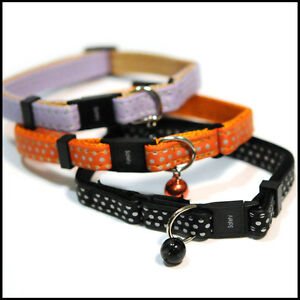 LIGHTWEIGHT-DOUBLE-SAFETY-CAT-COLLAR-3-colours-FREE-POSTAGE