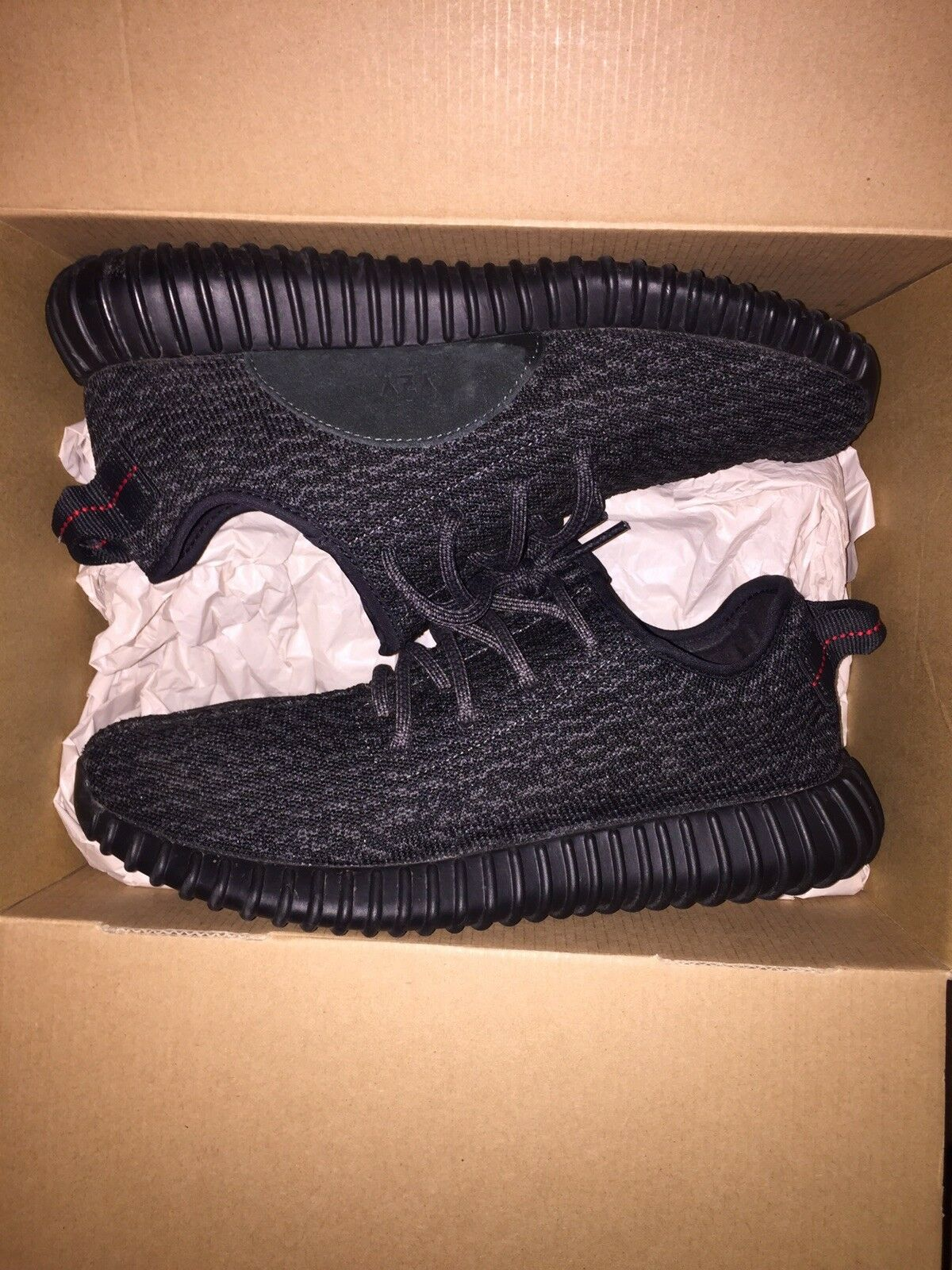 Authentic Adidas Yeezy Boost 350 Pirate Black 2016 Size 8