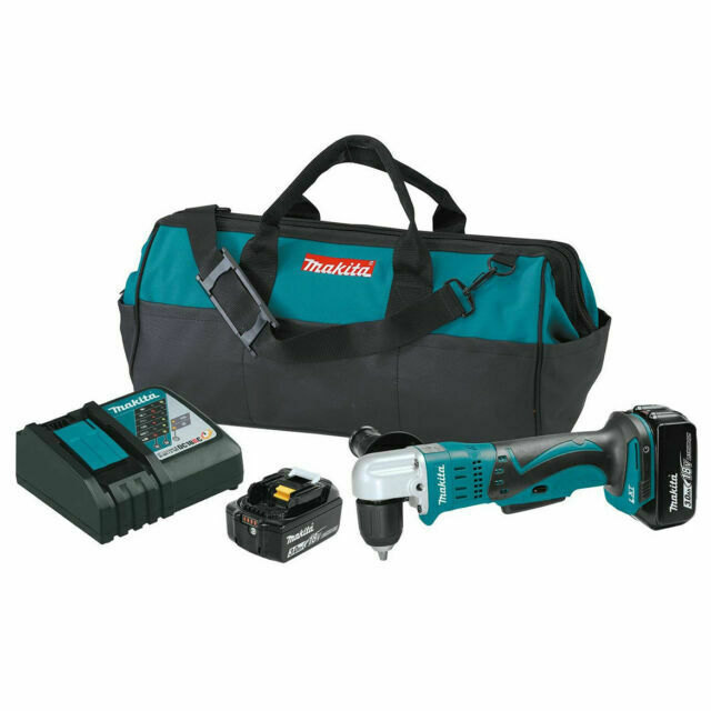 Makita Xad02 3 8 Inch 18v Cordless Angle Drill Kit For Sale Online Ebay