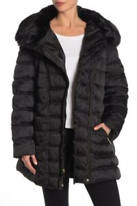Laundry-By-Shelli-Segal-Belted-Hooded-Puffer-Coat-Black-S