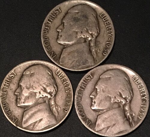 1939-D 1950-D AVERAGE CIRCULATED JEFFERSON NICKELS//// 0NE 1 COIN FROM GROUP