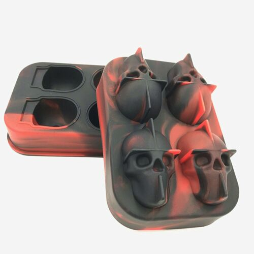 Silicone Skull Shape Ice Cube Mold Trays 3D DIY Maker Bar Chocolate Cake Mould