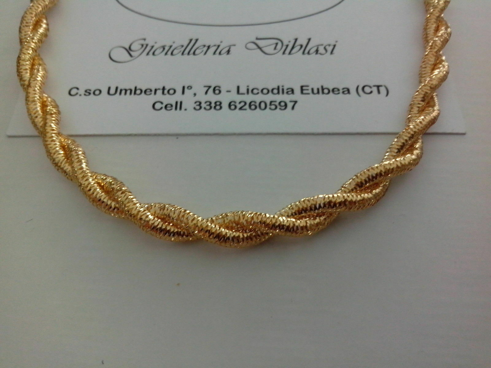 Collana girocollo in oro oro oro giallo 18kt 750% elastica b4c5eb