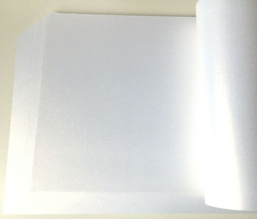 50 A4 Oro Blanco Hielo Brillo Nacarado Artesanía Papel 120gsm Doble Cara!