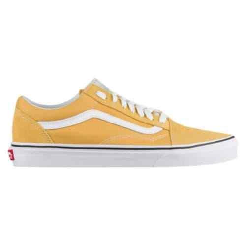 New Vans Old Skool Skate Shoe YELLOW Suede Ochre Canvas Uomo Scarpe