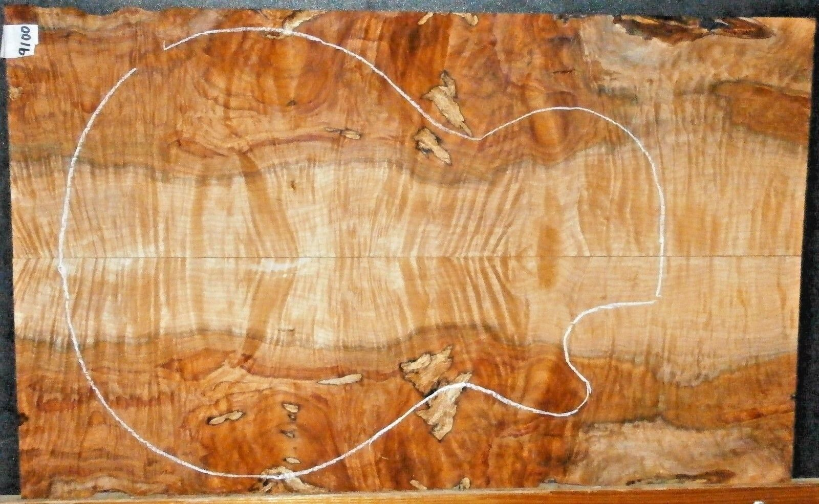 Flame Spalted Maple 9100 Luthier 5A Bass Guitar Top Set  23.5 x 14.5 x .500