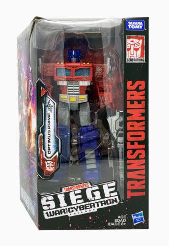 Siege Voyager Optimus Prime en Stock Transformers Generations War for Cybertron