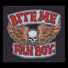 Patch Bite Me Fanboy Lobo Die Antwoord Comic Book Geek Big Bang Skull NFP038