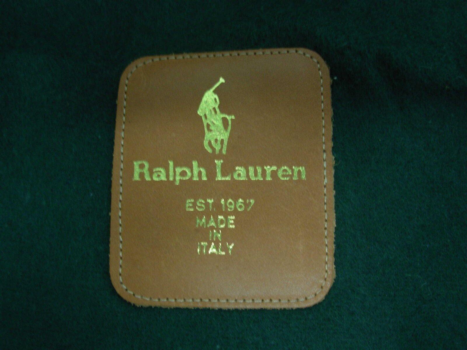 RALPH RALPH RALPH LAUREN ITALY schwarz LEATHER damen HIGH Stiefel GRIFFIN BUCKLE LOGO SZ 6 1 2 45ece9