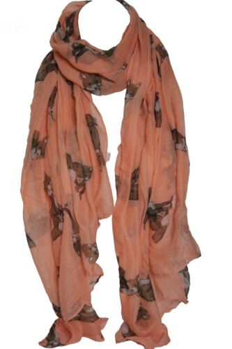 Peach Fox Animal Print Large Maxi Scarf Shawl Wrap Stole Sarong Hijab