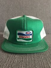 Vtg Esso Engro Trucker Hat Snap Back Mesh Canada Farming Fertilizer Farm Green
