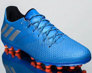 adidas Messi 16.3 AG men soccer cleats football NEW blue metallic ... 084320ae02573