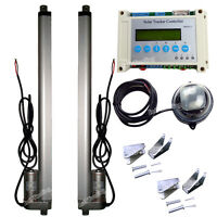 Dual Axis Solar Tracking Tracker Kit &2 18 12v Linear Actuator &lcd Controller