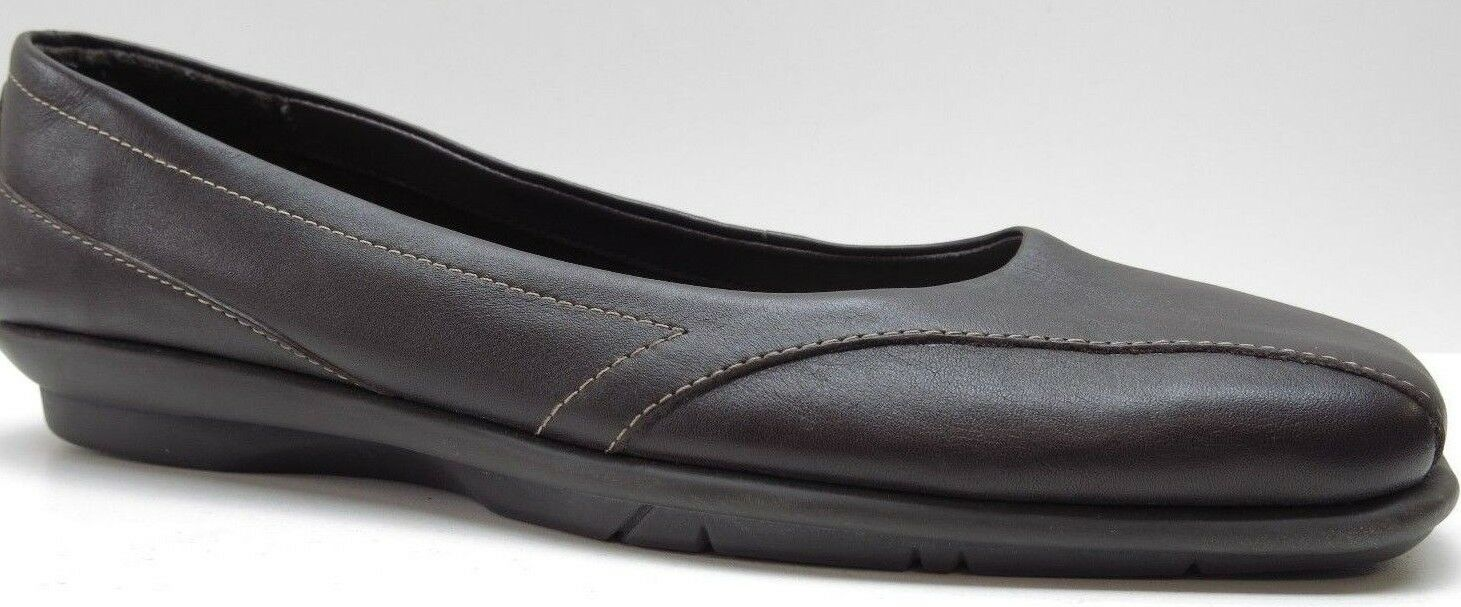 Aerosoles Brown Leather Wedge Loafers Heels 9M 9 NEW MSRP  89.