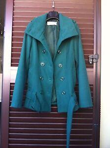 Cappottino-Coconuda-tg-40-giacca-cappotto-giaccone-verde-H-amp-M-ZARA-MANGO-MOTIVI