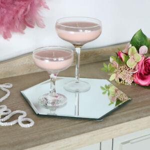 Hexagonal-Miroir-Table-Plaque-Cuisine-Diner-Cadeau-Mariage-Accessoires-Vitrine