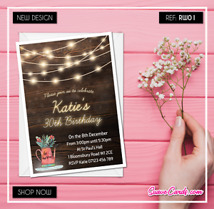 Personalised-Birthday-Invitations-Rustic-Party-Invites-30th-40th-50th-60th-70th