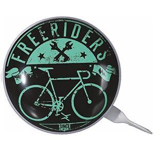 "Vintage metal-timbre timbre de bicicleta campana Ø ca 8cm motivo: ""freeriders""  </span>"