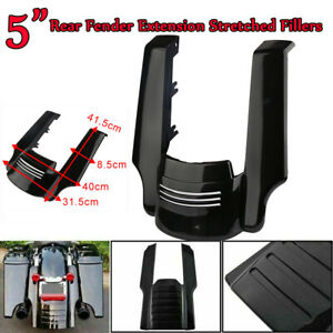Rear-Fender-Extension-Stretched-Fillers-5-034-Fuer-Harley-Touring-Electra-Road-Glide