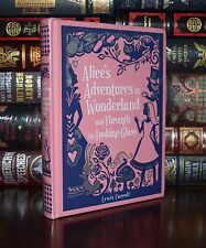 Alice in Wonderland & Through the Looking-Glass Carroll Sealed Leather Bound 1st