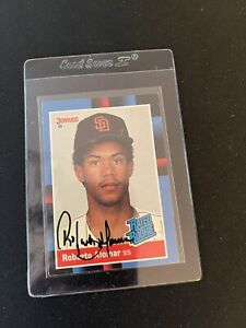 1988 Donruss Rated Rookie Recollection Collection Auto Roberto Alomar RC