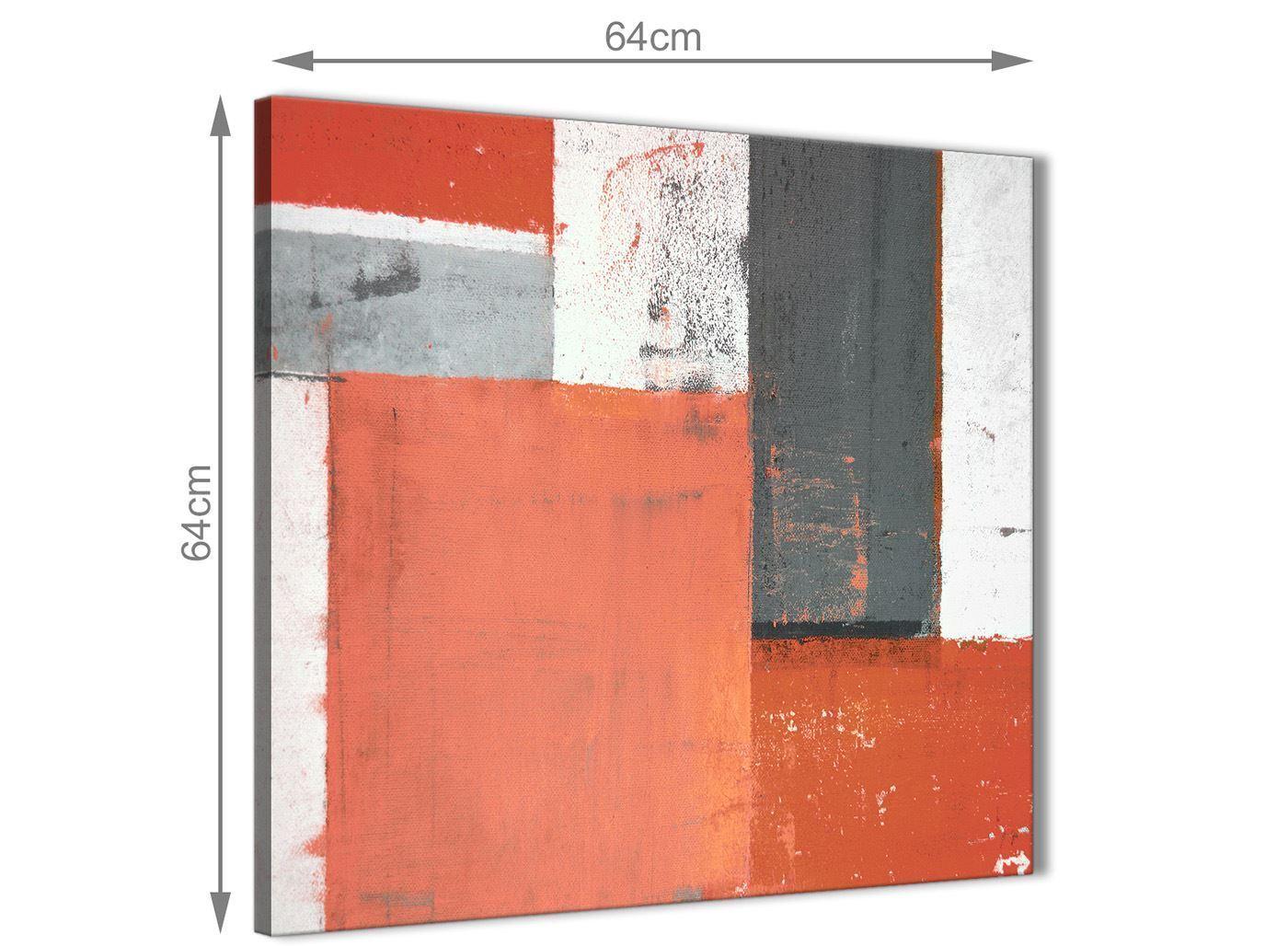 Coral Grigio Pittura Astratta Tela Tela Tela arte FOTO-Moderno Quadrato 64 cm - 1s336m db8074