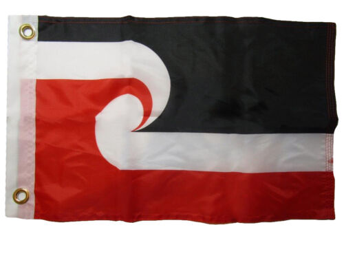 """12x18 12/""""x18/"""" Maori Country 100/% Polyester Motorcycle Boat Flag Grommets"""
