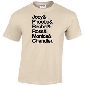 Joey-Phoebe-Rachel-Ross-Monica-Chandler-T-Shirt-Friends-Regalo-Top-Uomo