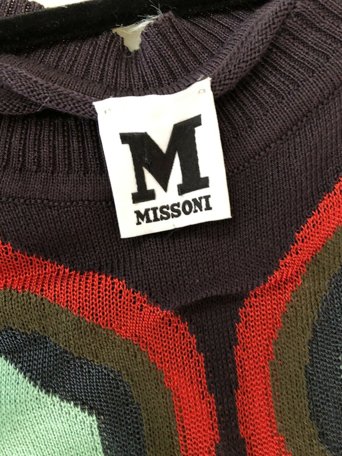 MISSONI Sexy Pattern colorful Rare Vintage Vintage Vintage Thin Mini Dress Size Small 830d6d