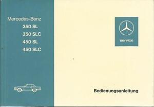 MERCEDES-SL-R107-C107-Betriebsanleitung-1973-Handbuch-350-450-SL-SLC-BA