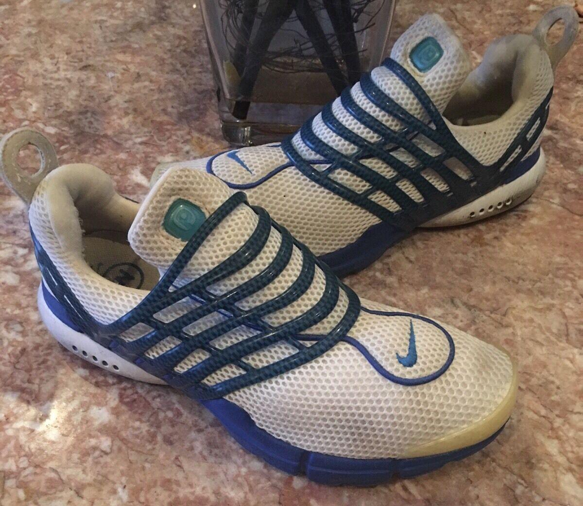 Nike air presto männer retro - blau / weiße sportschuhe größe m - 104301 141 euc