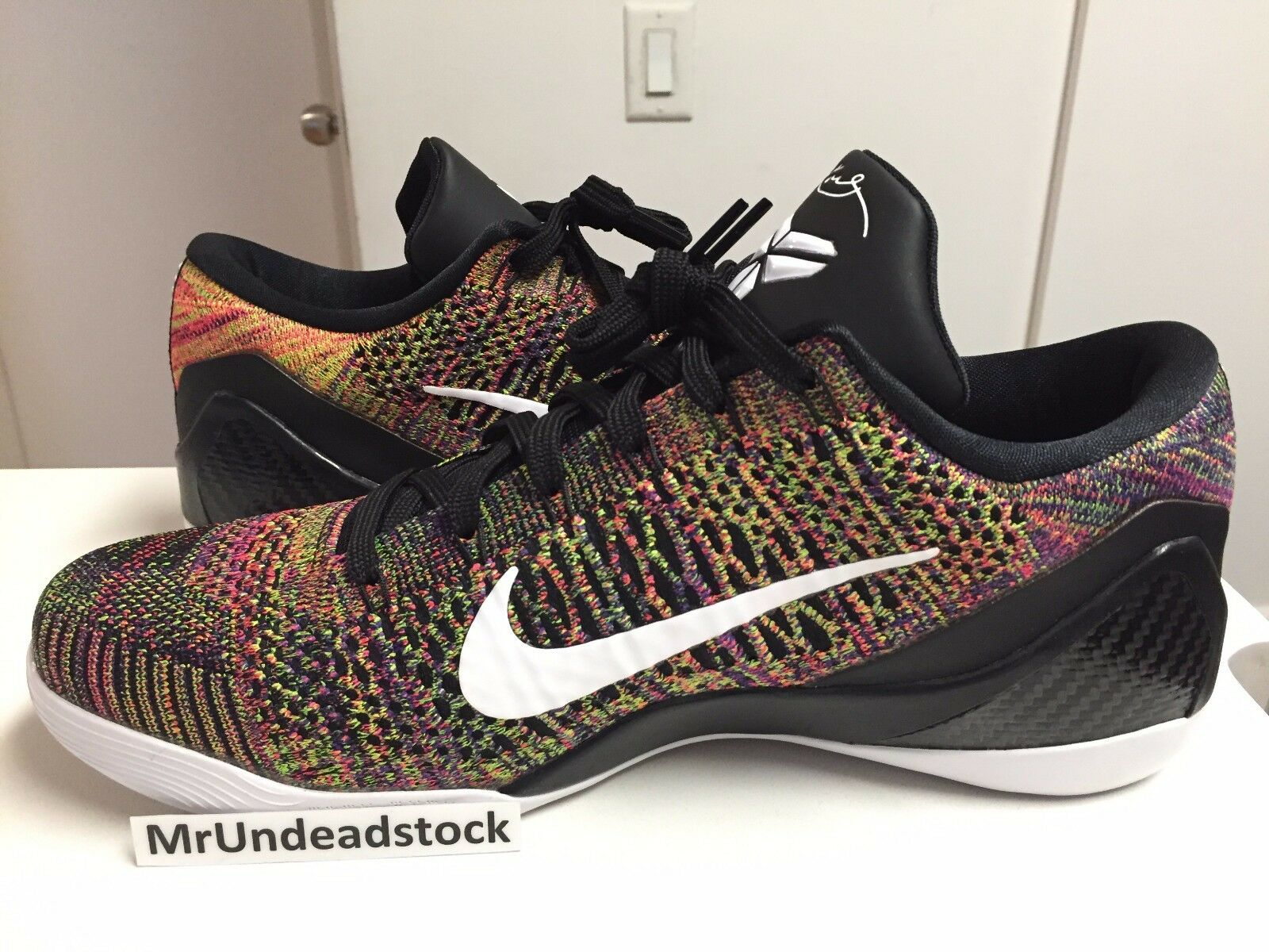 newest fab5a 56246 ... coupon for nike kobe ix 9 multi elite low id multicolor multi 9 color  flyknit sz