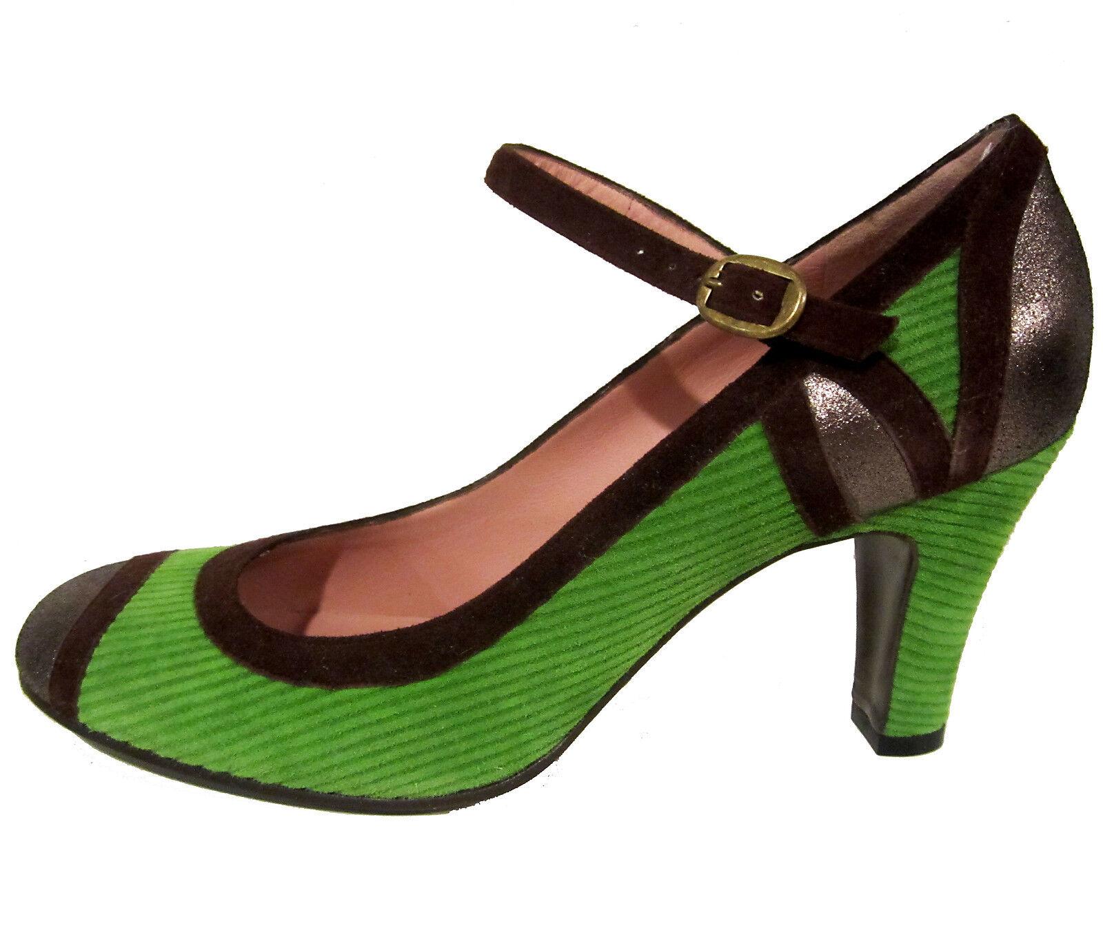 Marc by Marc Jacobs green heels 9.5 US 39.5 EU corduroy cap toe shoes NEW  375