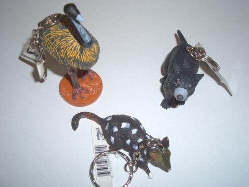 Porte clé différents personnages Animals Of Australia science and Nature