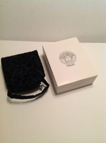 Woman Mit Box Abendtasche Versace navy Vintage Neu Gianni HawEYpxa