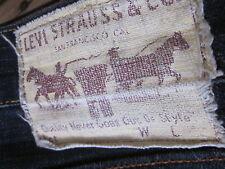 "LEVIS 504 JEANS (30/32x31) STRAIGHT/SLIMISH ""COTTON PATCH"" INDIGO DENIM ZIPPER F"