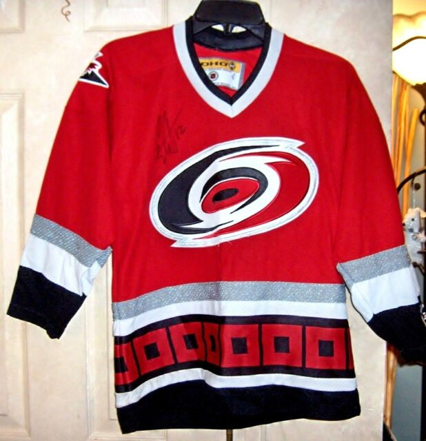 12 ERIC STAAL Sign HOCKEY Youth HURRICANES JERSEY Koho Official License  size L 1d4ab6eb9