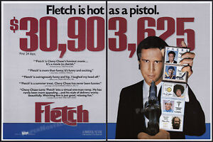 FLETCH__Original 1985 Trade Print AD promo / poster__First 24 Days__CHEVY CHASE