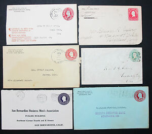 Postal-History-Set-of-6-US-Stamps-Covers-Stationery-Envelope-GS-Letter-L-2753