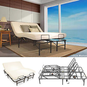 Full Size Adjustable Bed Frame Head Foot Electric Lift Contol Foundation Base Ebay
