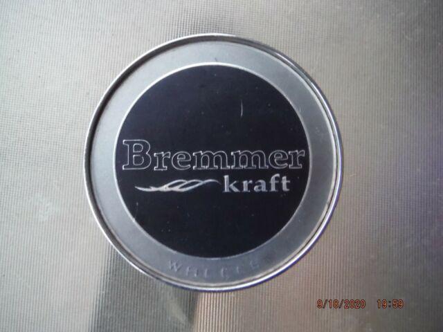 Bremmer Kraft Wheels Silver Black Center Cap BR4-1 BREMCAP2L