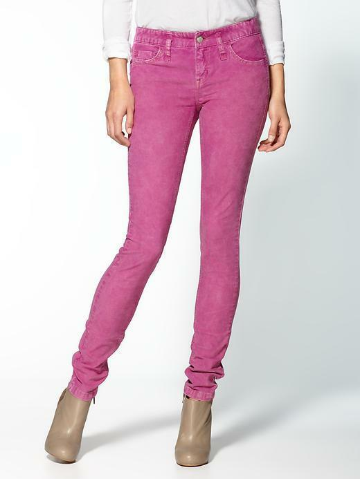 FREE PEOPLE Skinny Stretch Cord Corduroy Pants Jeans Trousers Hot pink 25 Nwt